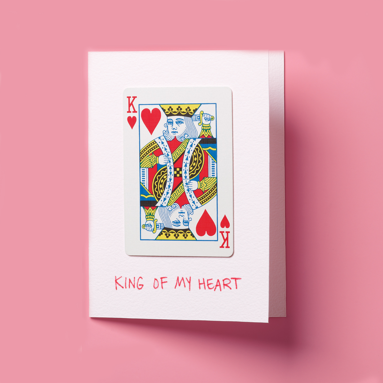 DIY Valentine Day cards, king of hearts playing card