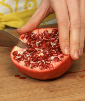 How to Seed a Pomegranate, Step 2