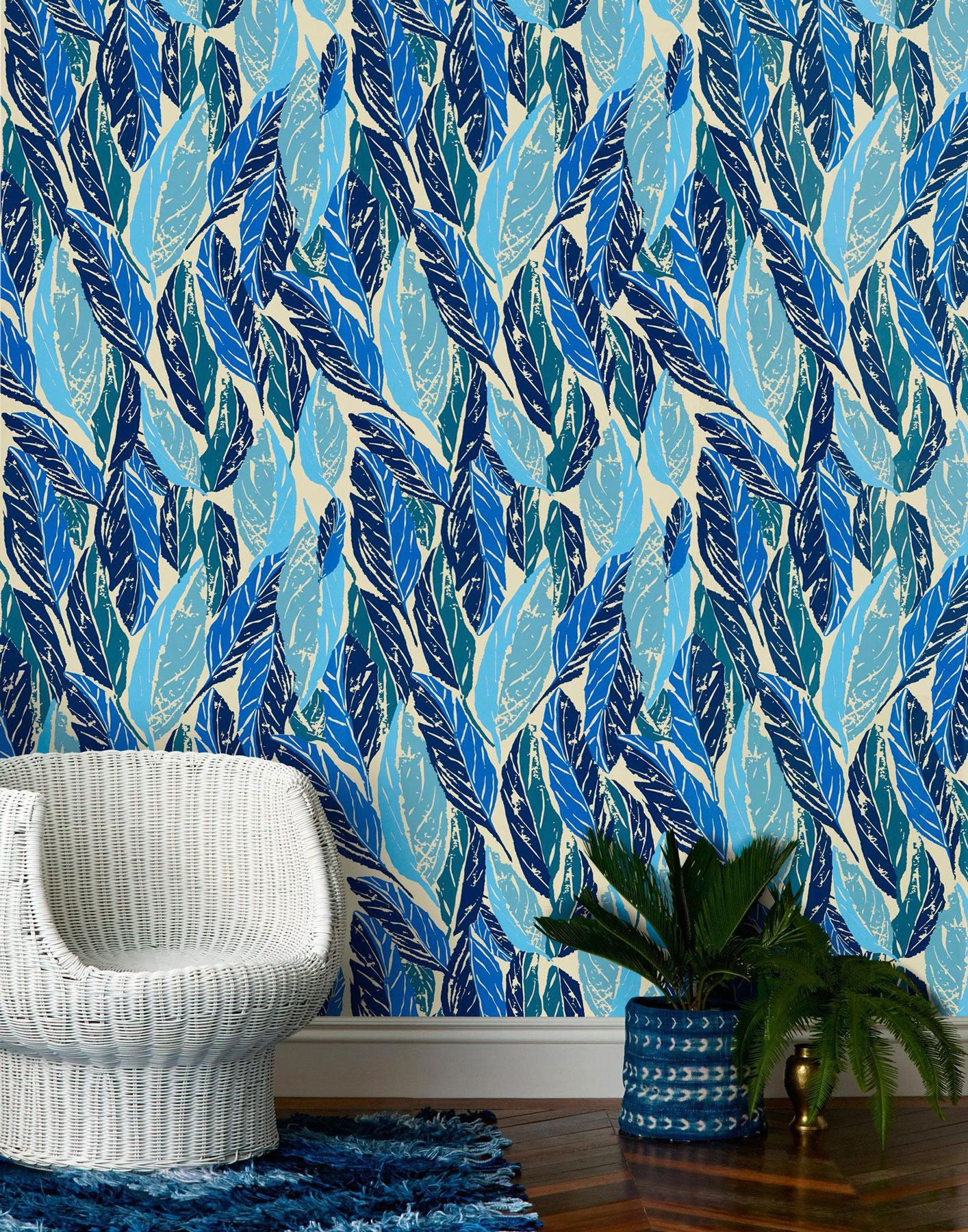 Wallpaper for Walls Hygge & West Nana in Blue