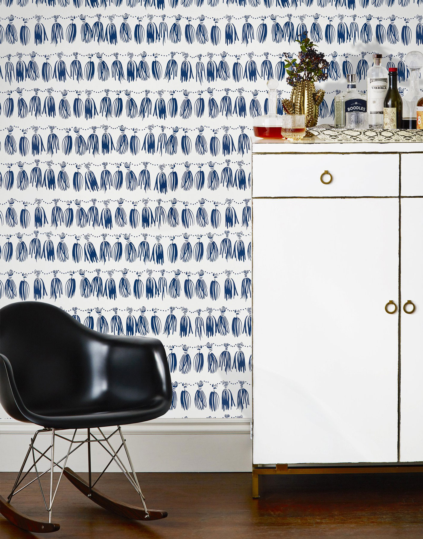 Wallpaper for Walls Hygge & West Tassels in Marine