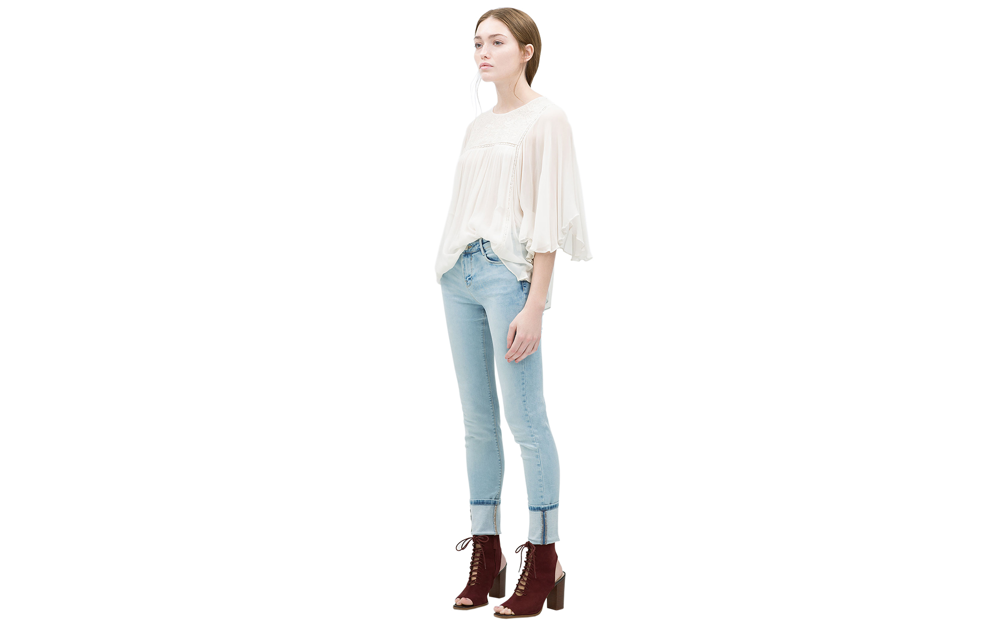 Zara Basic Jeans Light Blue