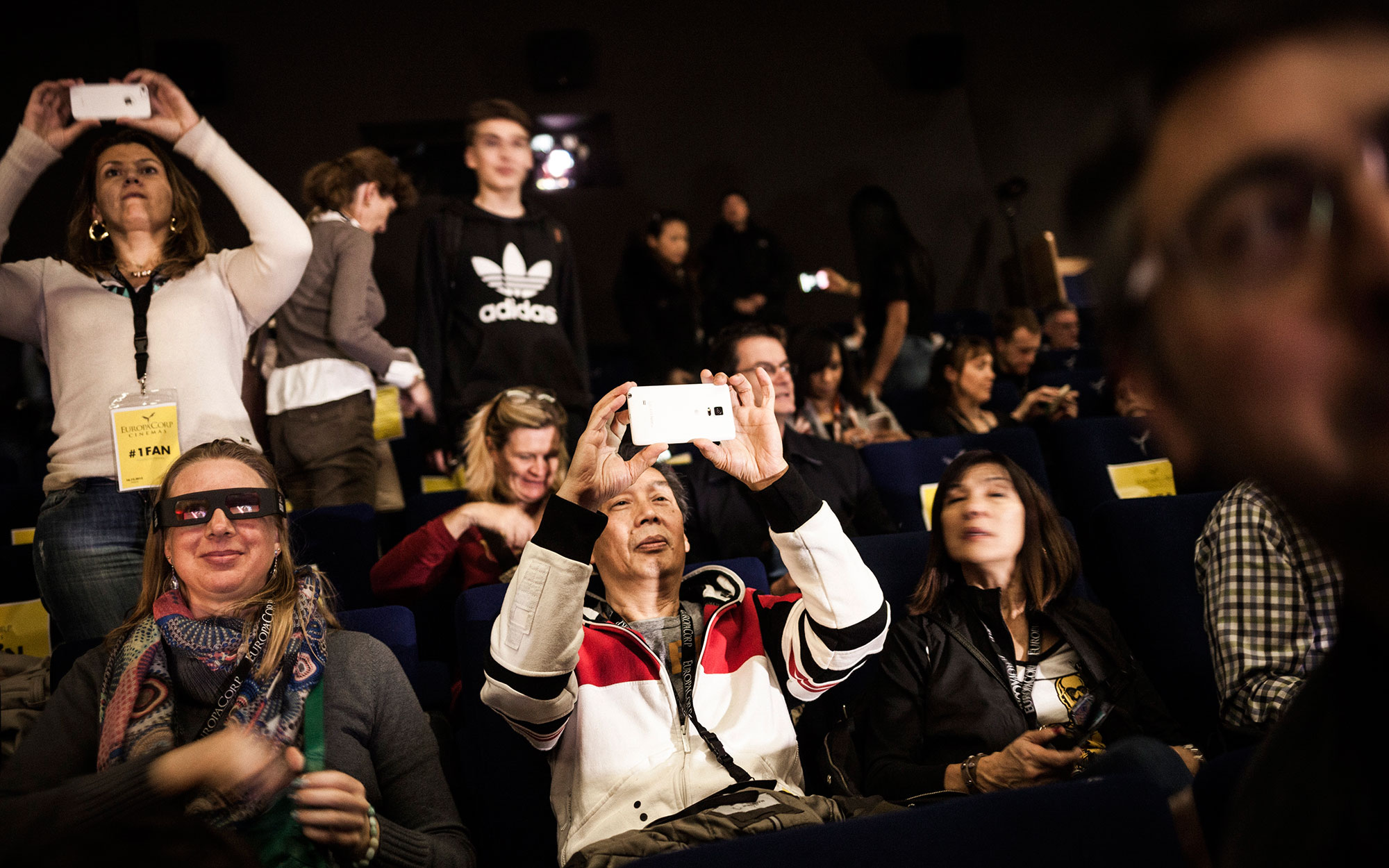 63 Star Wars fans from the United States were offered the opportunity of flying into Paris with Air France to see the latest Star Wars movie - The Force Awakens - 2 days before it goes on general release across the world.Photo (c) Ed Alcock / M.Y.O.P. 1