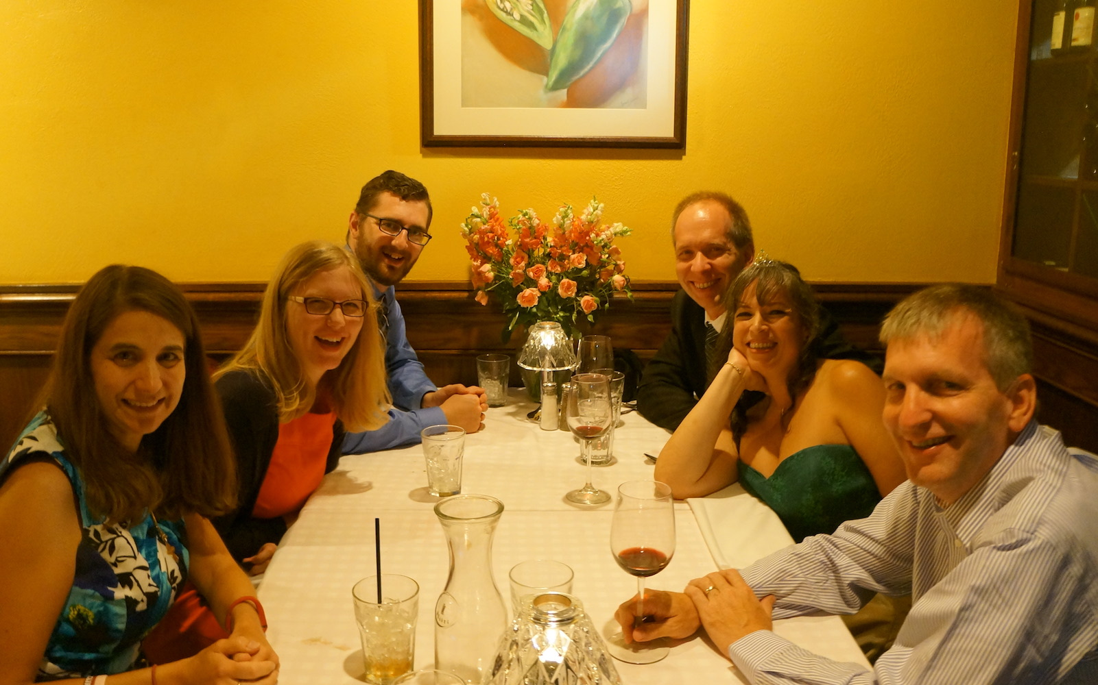 Greg and Lucie Dils host a wedding reception with coworkers in Iowa