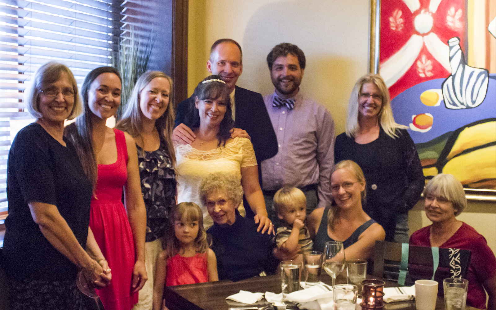 Greg and Lucie Dils host a wedding reception in Minnesota