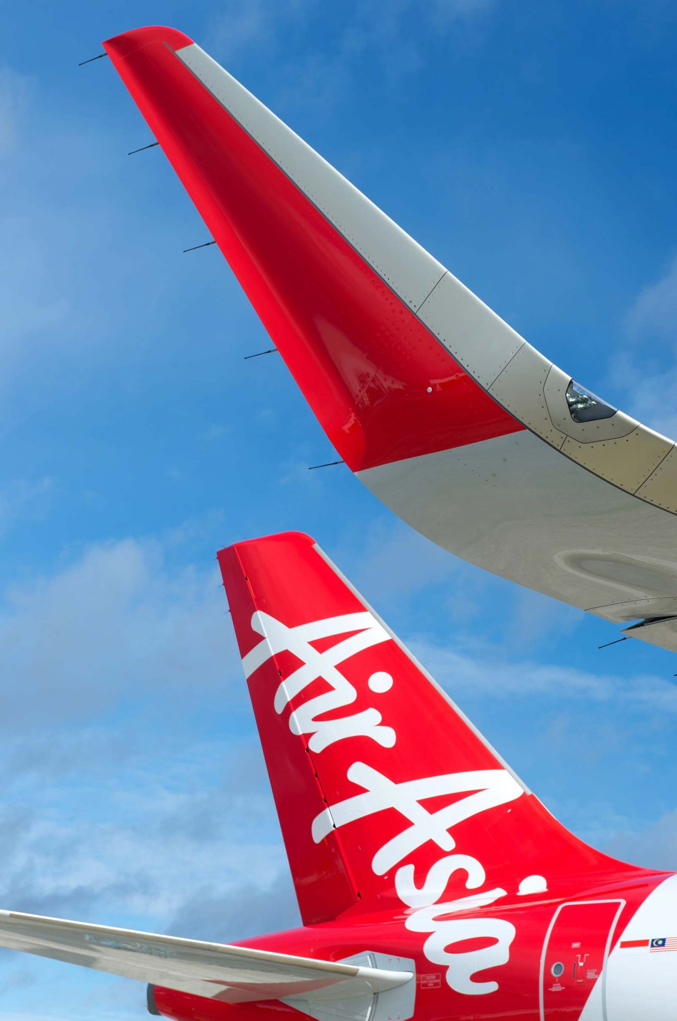 Sharkskin texture on planes to help make them more aerodynamic AirAsia