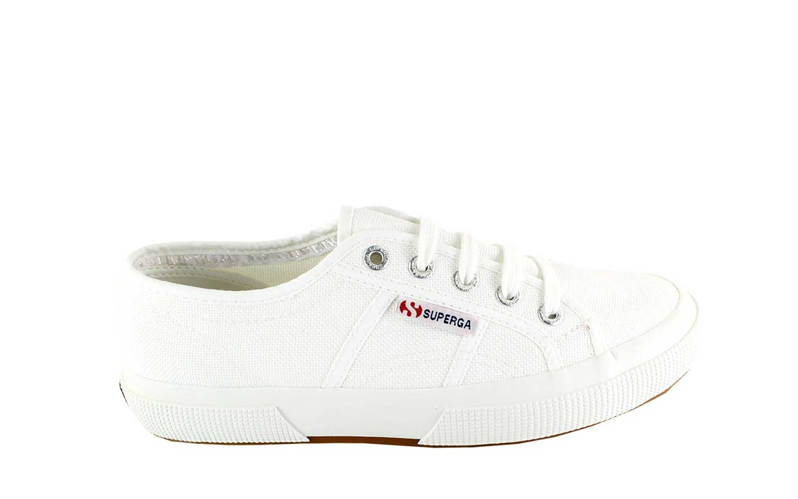 All White Superga Training Sneakers