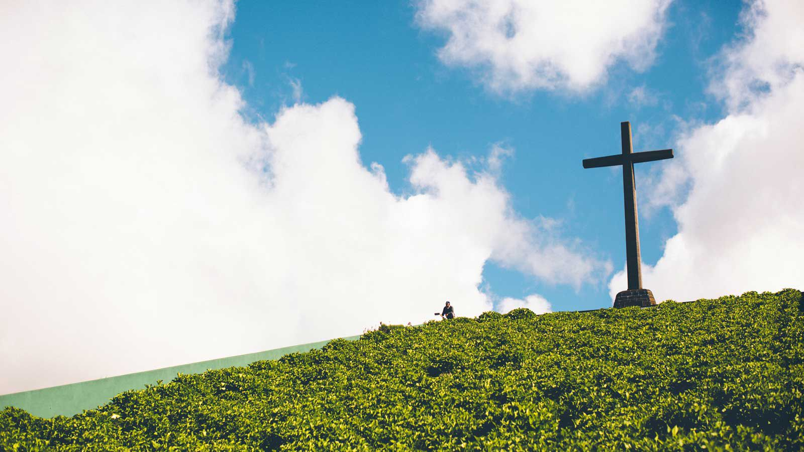 Cross on a Hill in the Azores