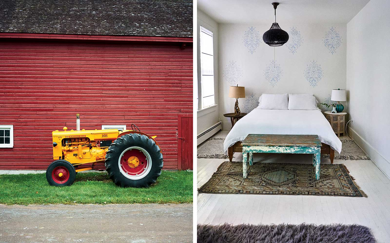 Kinder hook Farm and Foxfire Mountain House, in Upstate New York