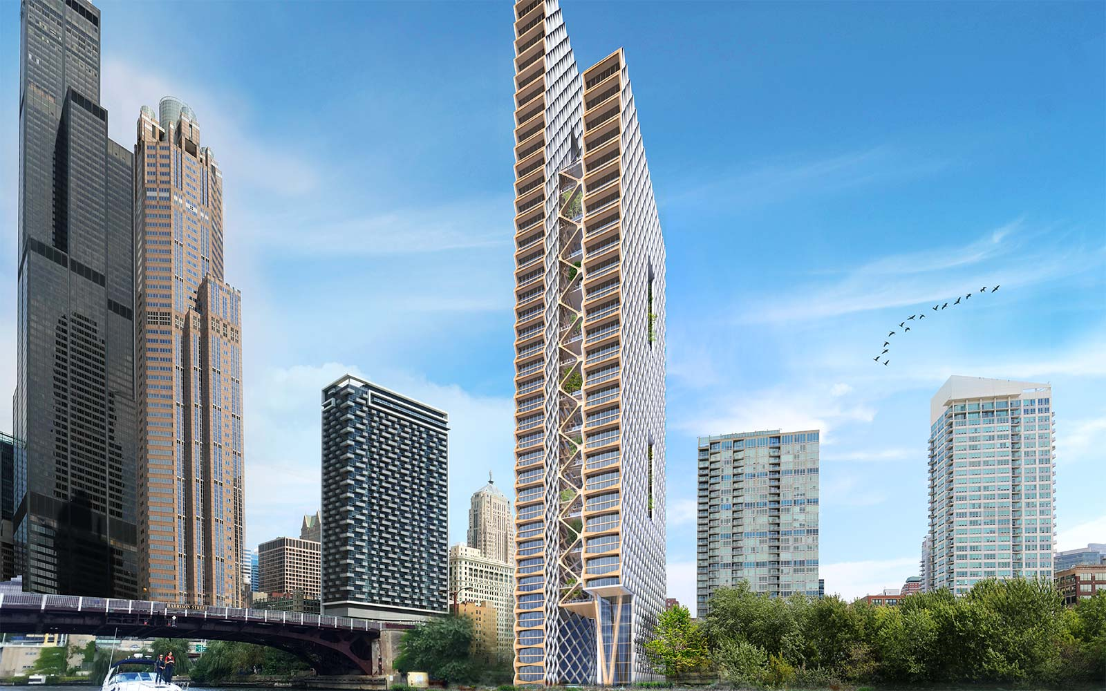 river beech tower architecture perkins and will design chicago illinois wooden skyscraper