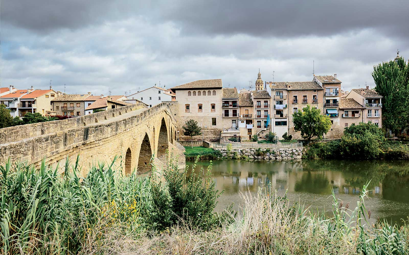 Puente la Reina in Rioja region, Spain