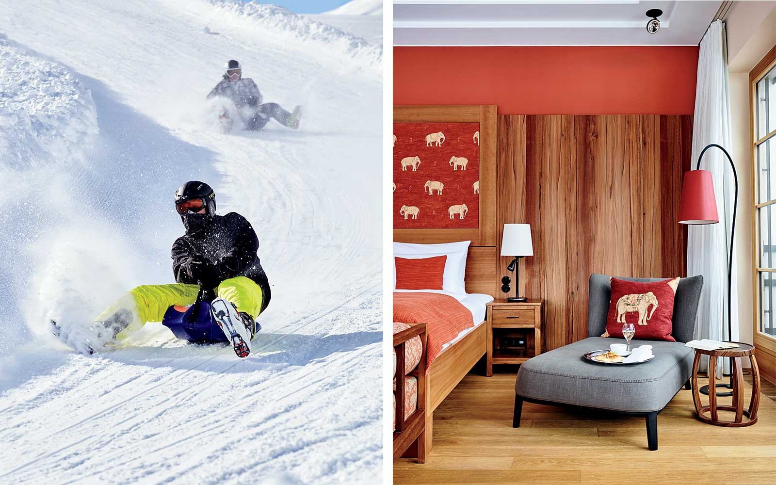 Sledding in Bavaria and a room at the Schloss Elmau hotel