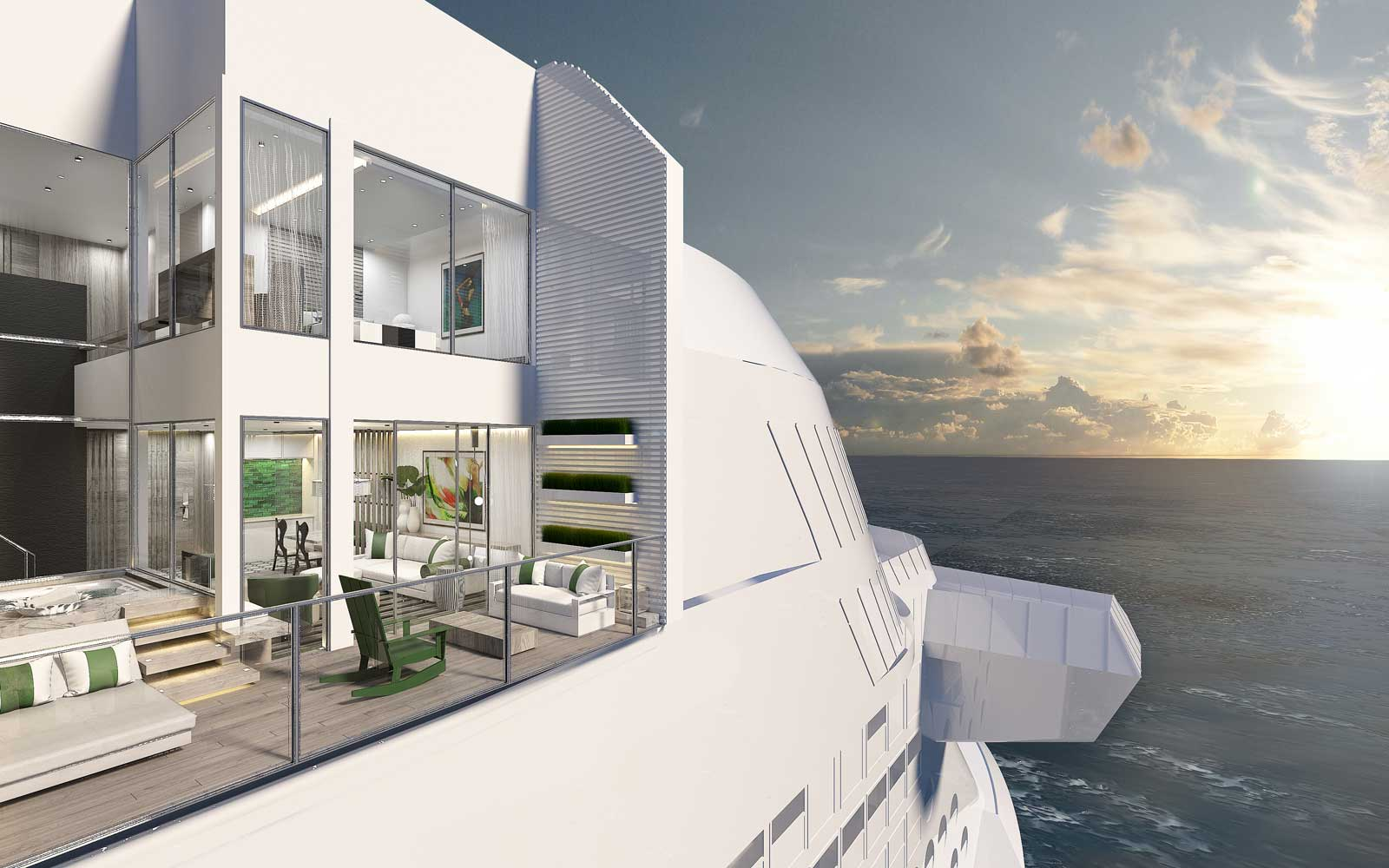 Rendering of the Celebrity Edge villa