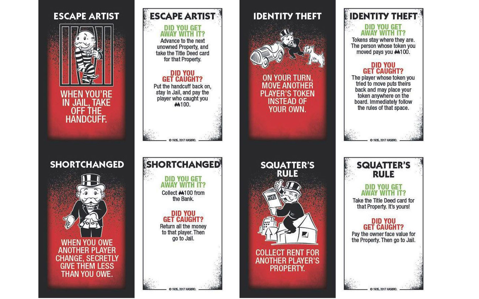 Monopoly: Cheaters Edition Cards