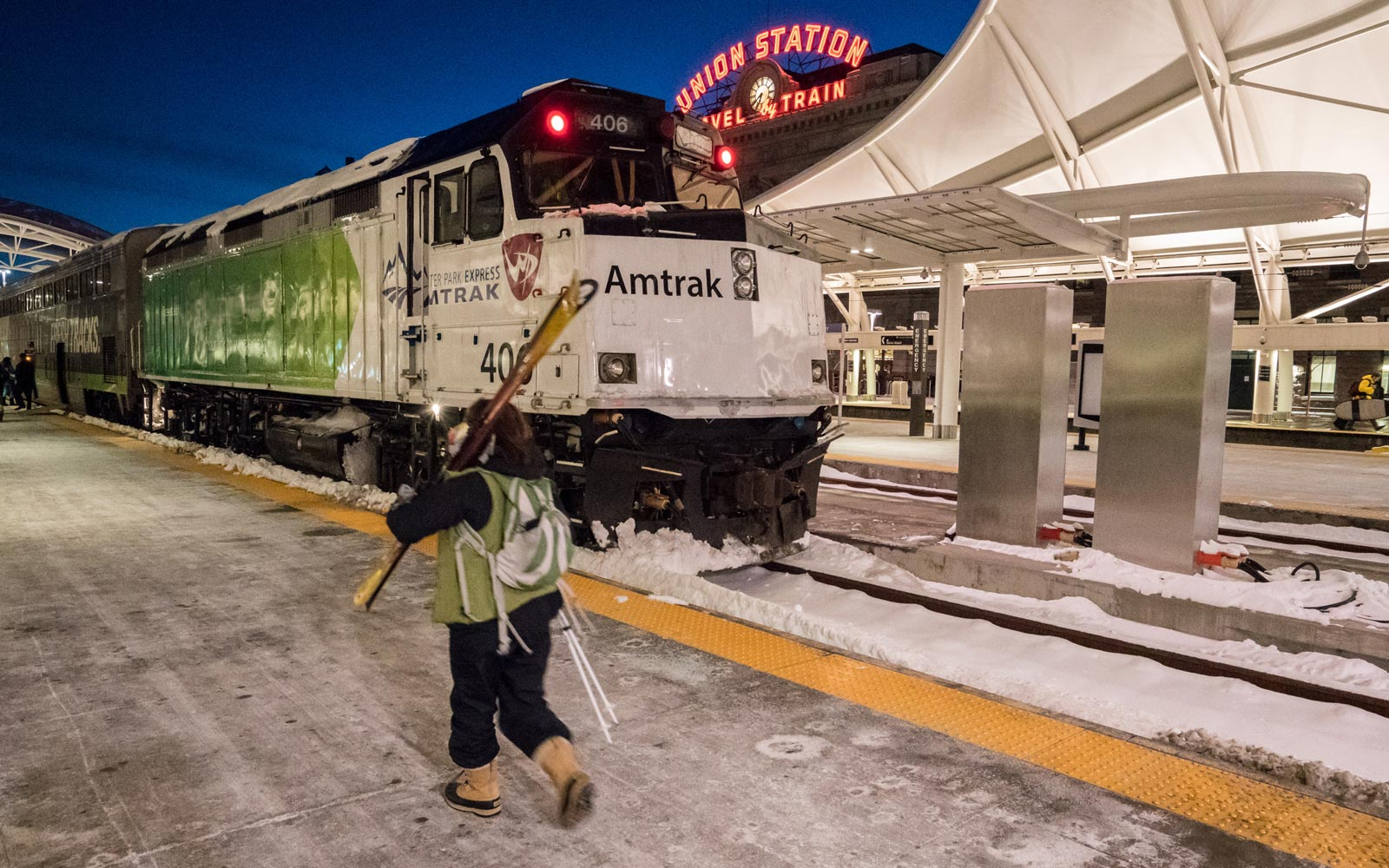 The Amtrak Winter Park train at Union Station
