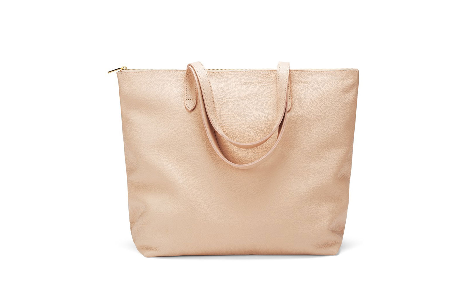 Cuyana leather zip tote