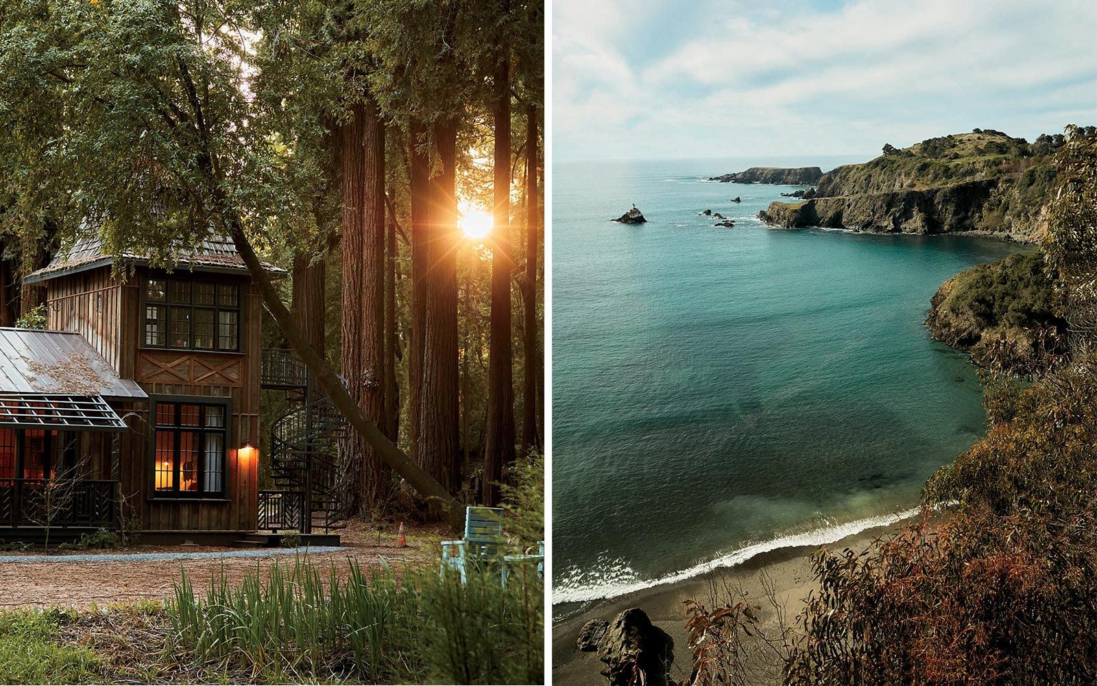 Hotels and coastal drives in Mendocino