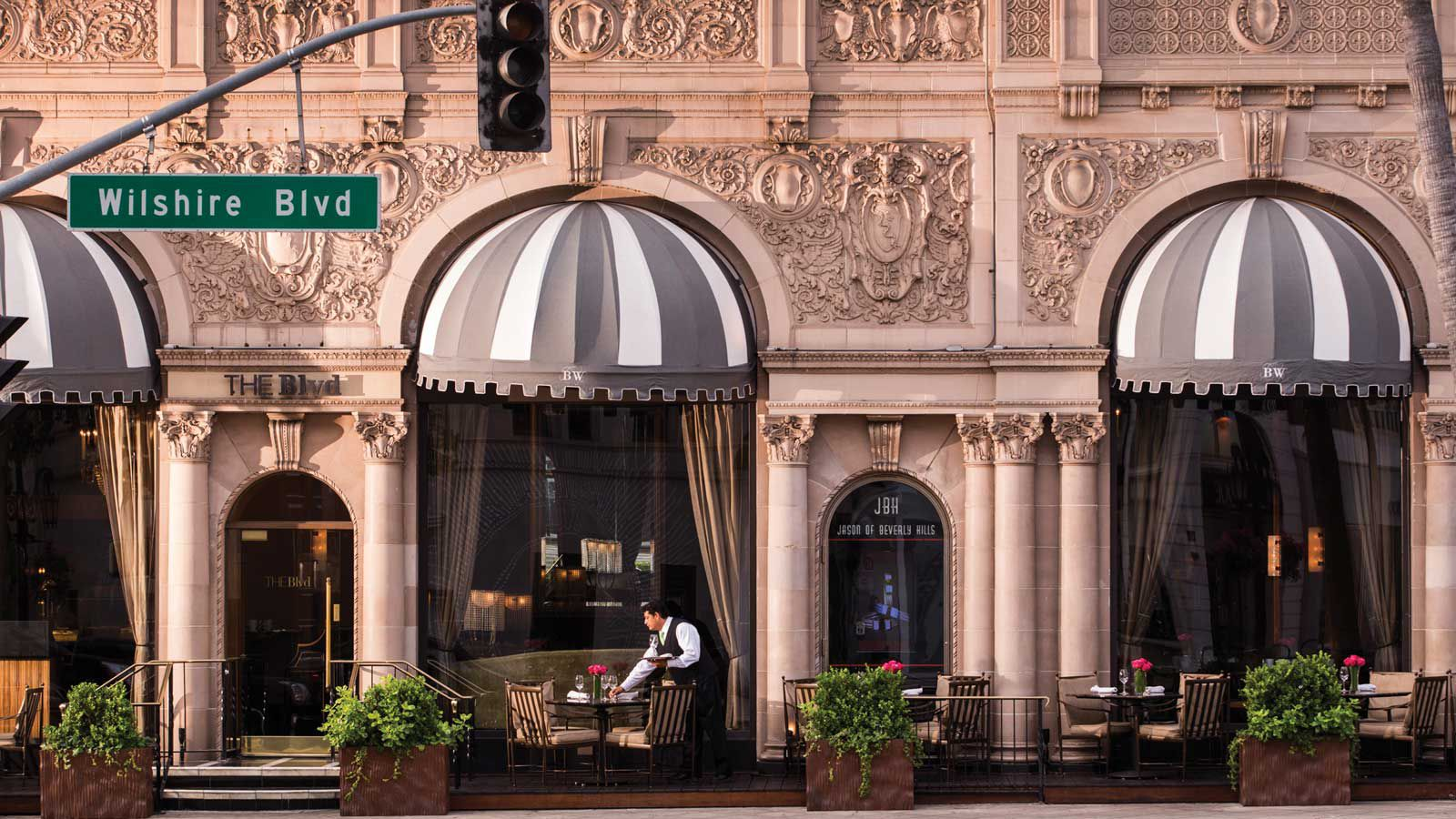 Entrance to the Beverly Wilshire. a Four Seasons Hotel
