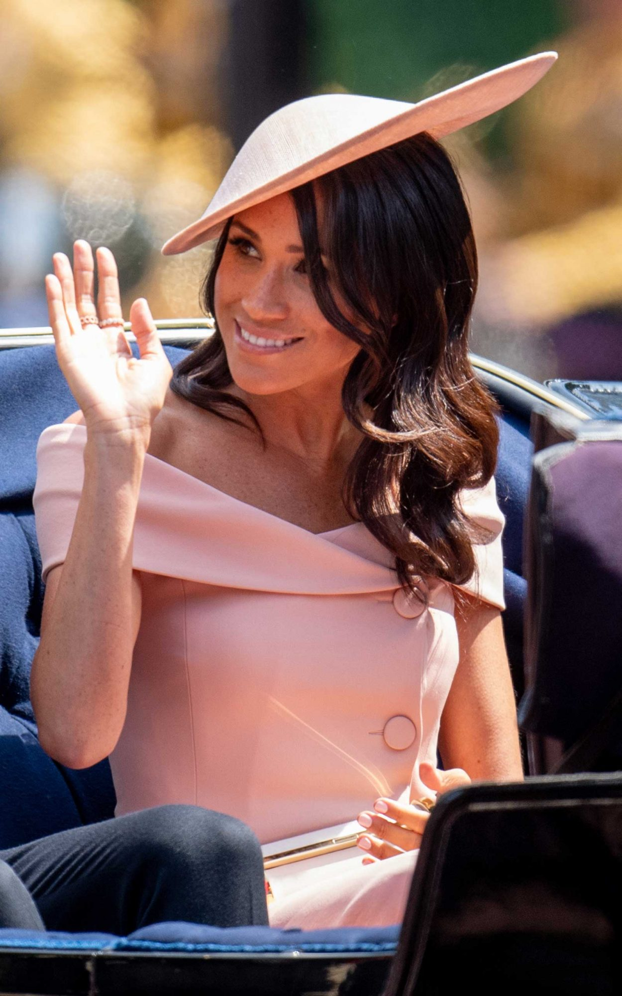 Meghan, Duchess of Sussex during Trooping The Colour 2018 on June 9, 2018 in London, England.