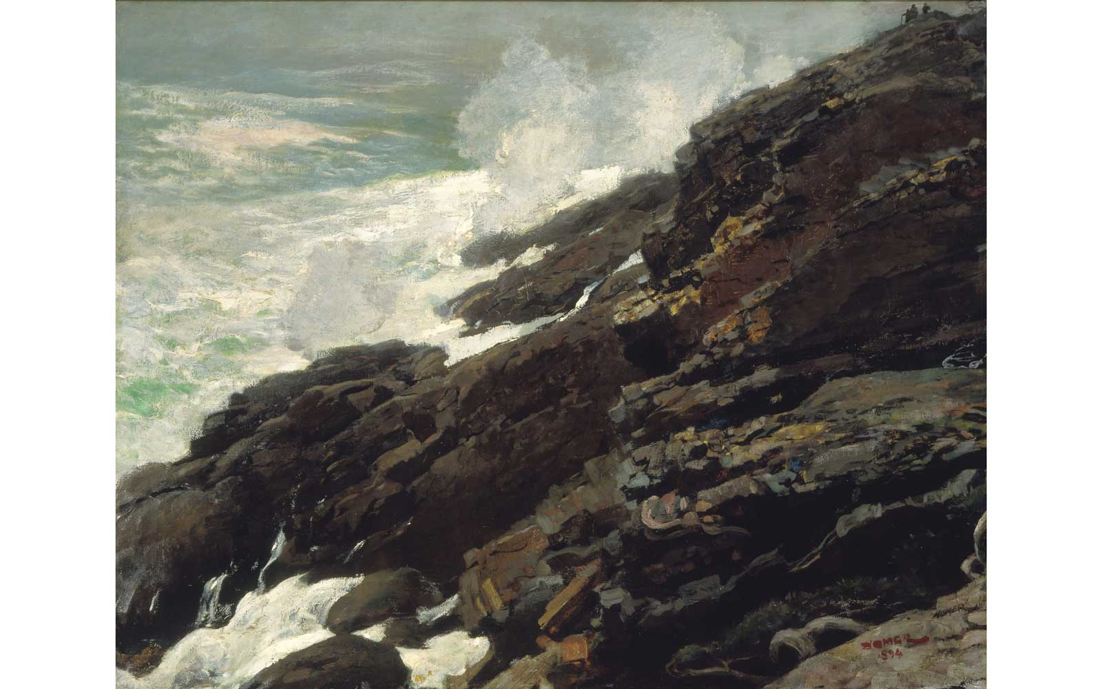 High Cliff, Coast of Maine, 1894, oil on canvas by Winslow Homer. Smithsonian American Art Museum, Gift of William T. Evans. Photography: Smithsonian American Art Museum, Washington, DC / Art Resource, NY.