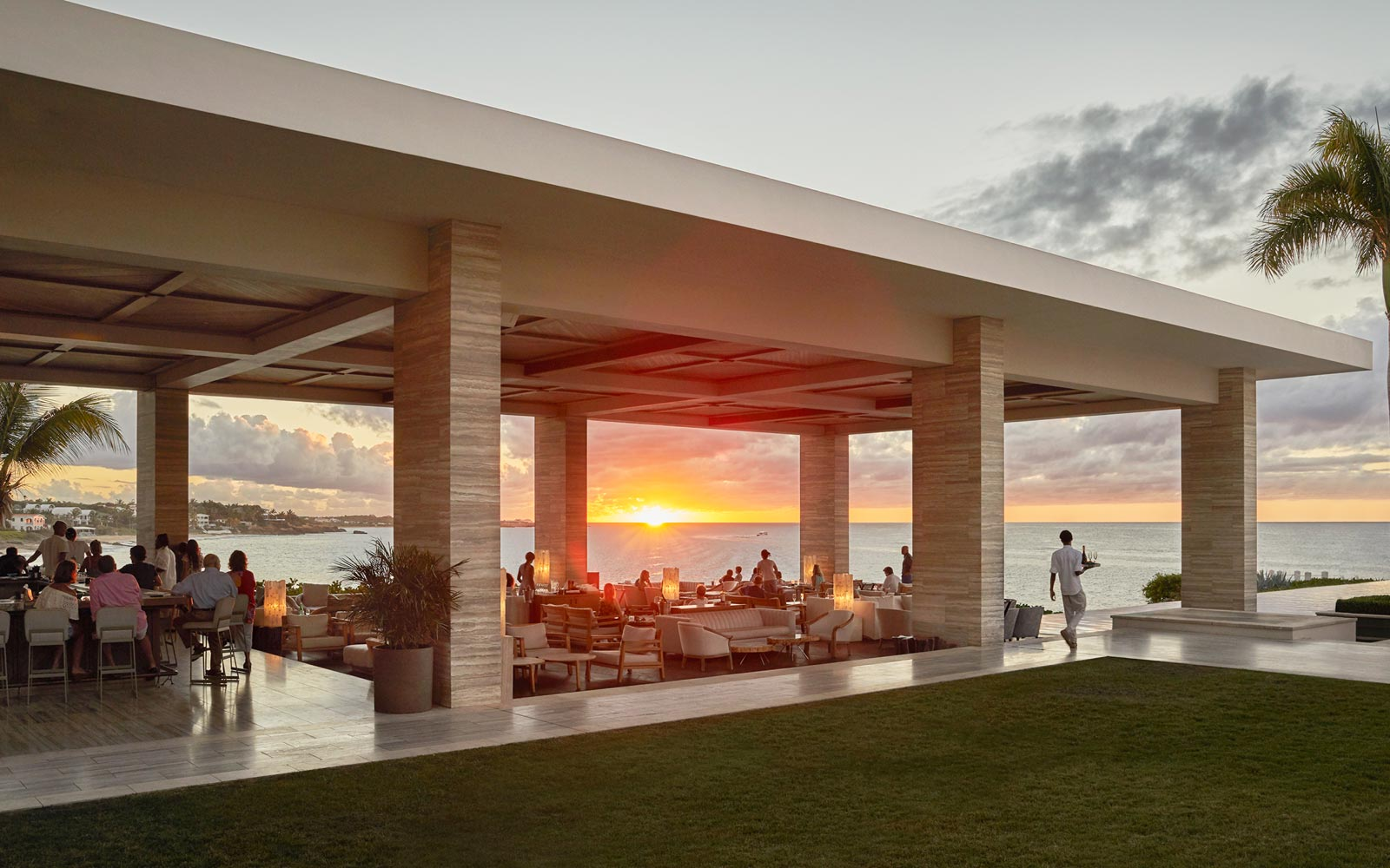 Sunset dining at the Four Seasons Anguilla