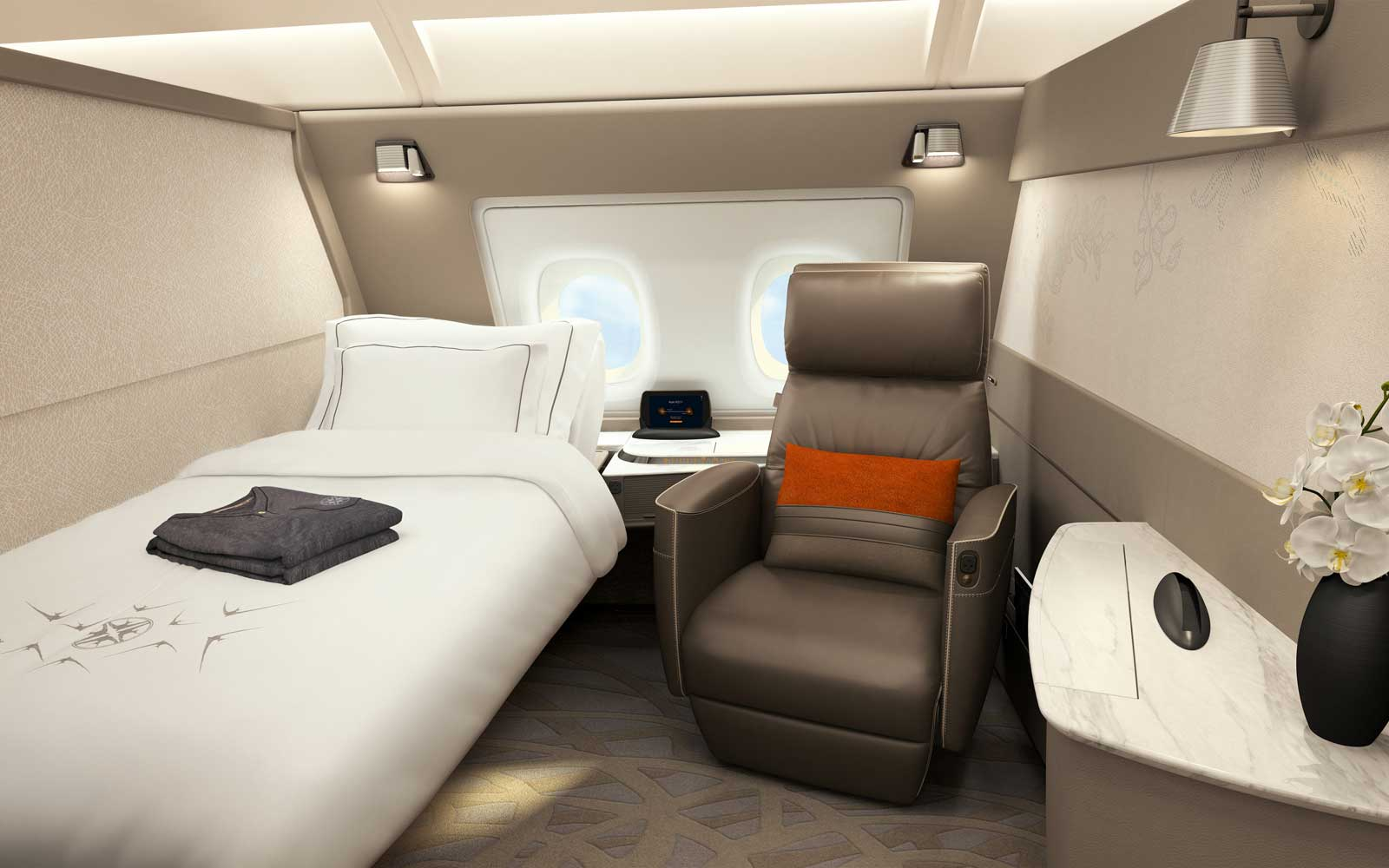 Singapore Airlines private first class suite
