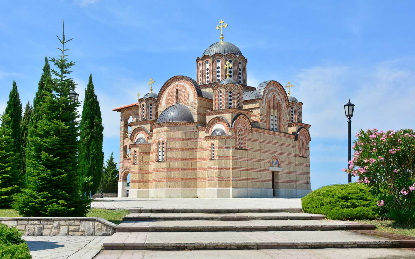 The Hercegovacka Gracanica Monastery on Crkvina Hill above Trebinje in Bosnia