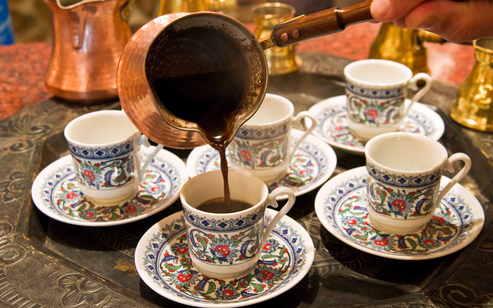Traditional Arabic coffee, Dubai, United Arab Emirates, Middle East