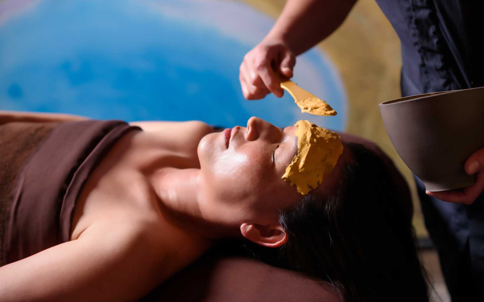 Mask during a Nobu Go spa treatment in Las Vegas