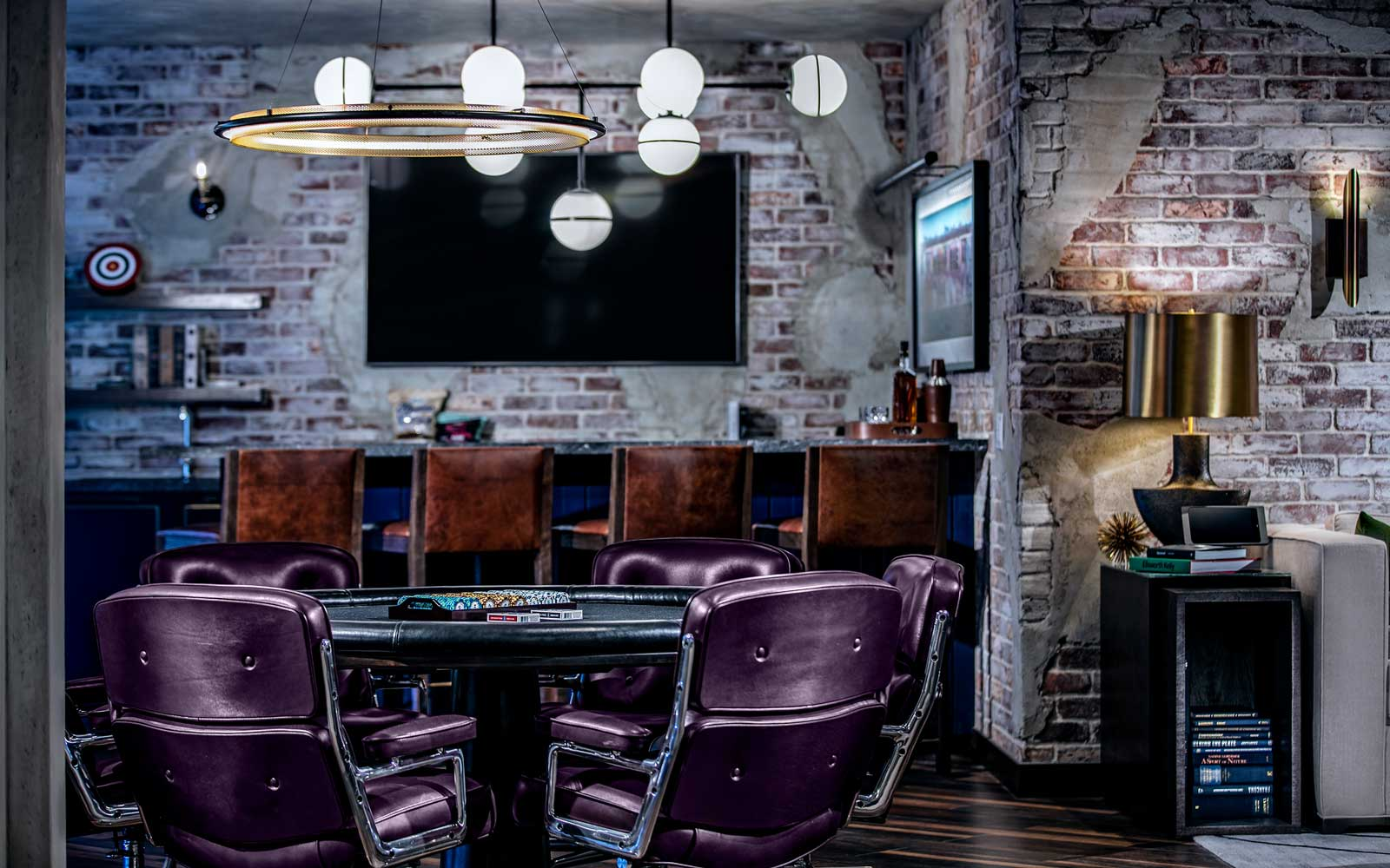 Play poker without having to head to the casino at the Loft Suite.