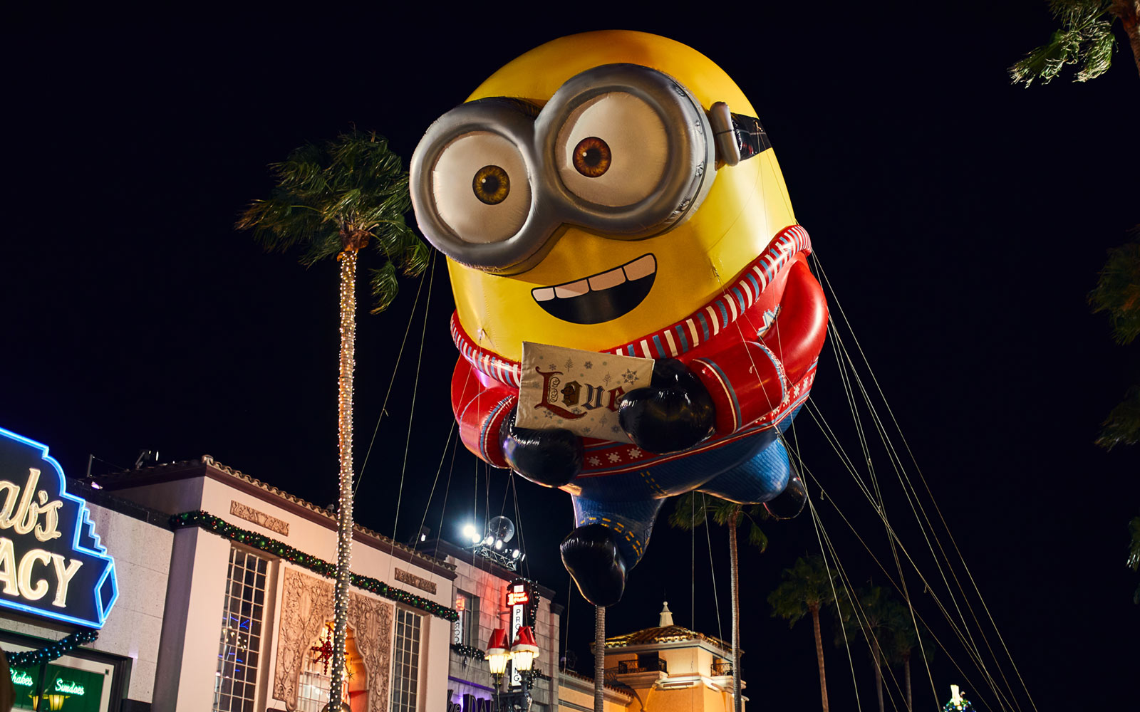 Minion during the holiday parade at Universal Orlando Resort
