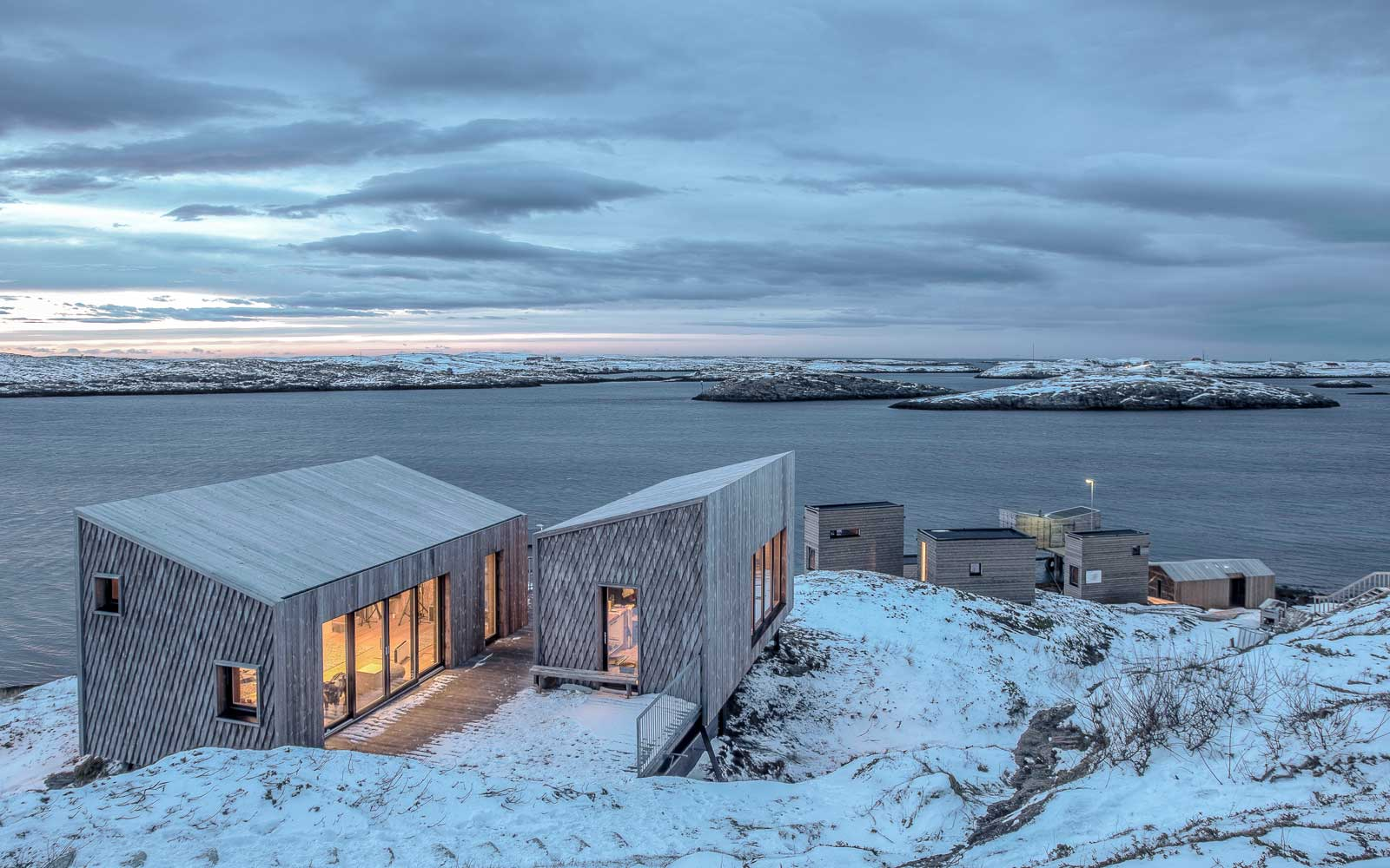 View at the Arctic Hideaway island in Norway