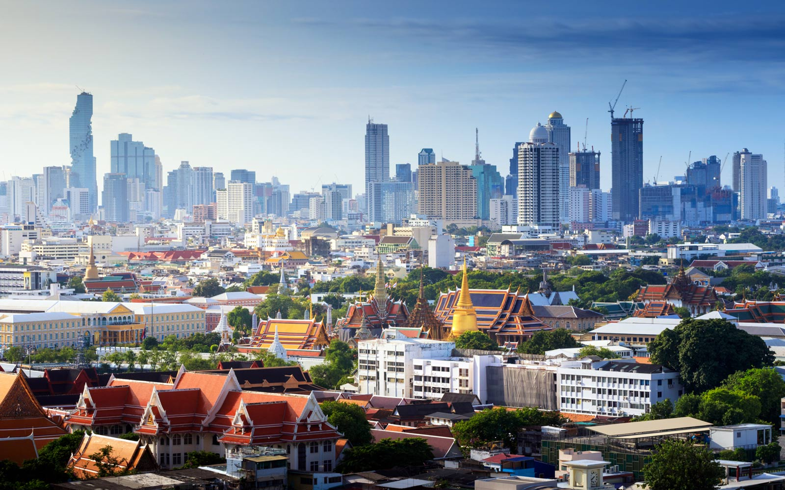 Skyline of Bangkok, Thailand