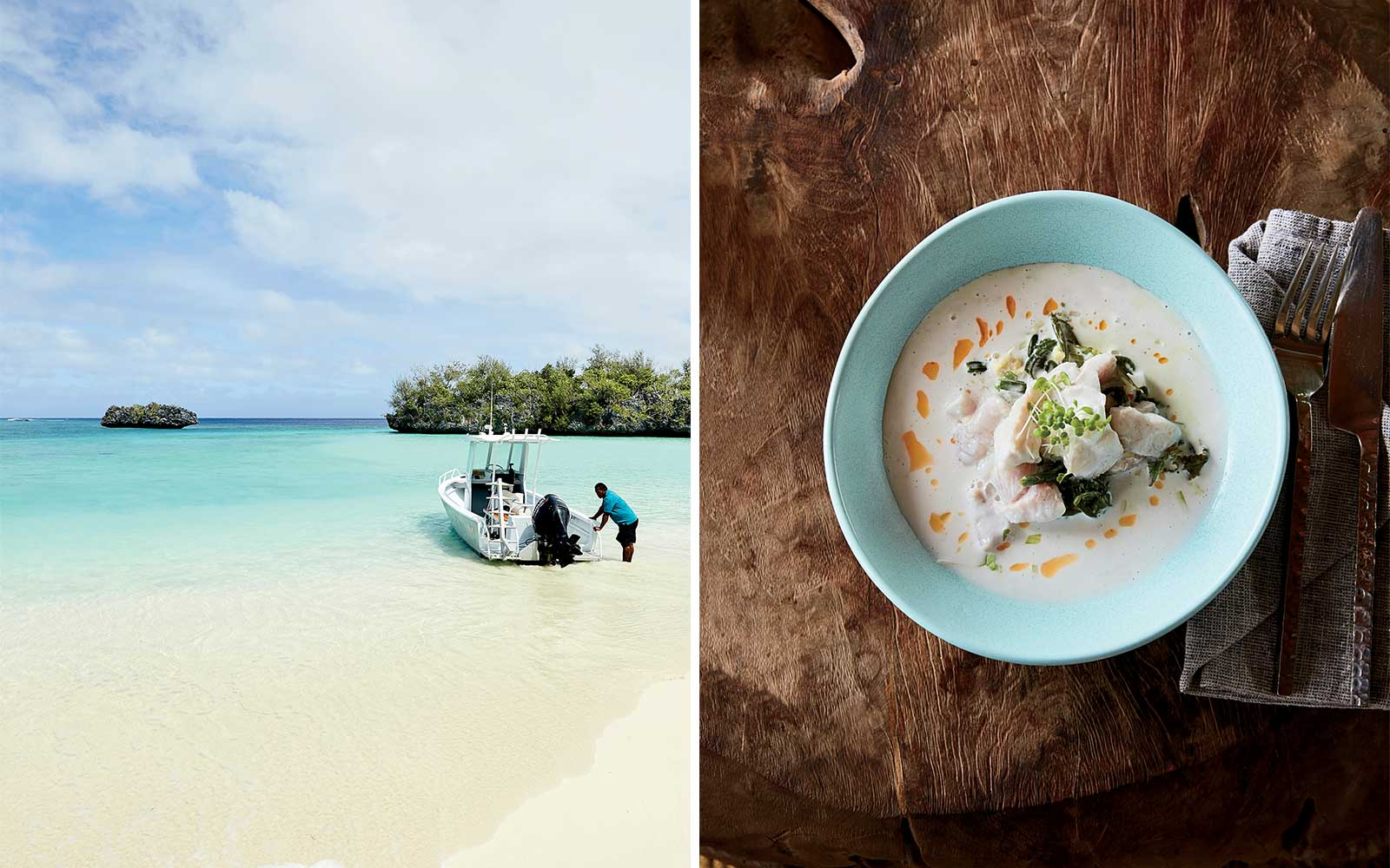 Dining and beaches in Fiji