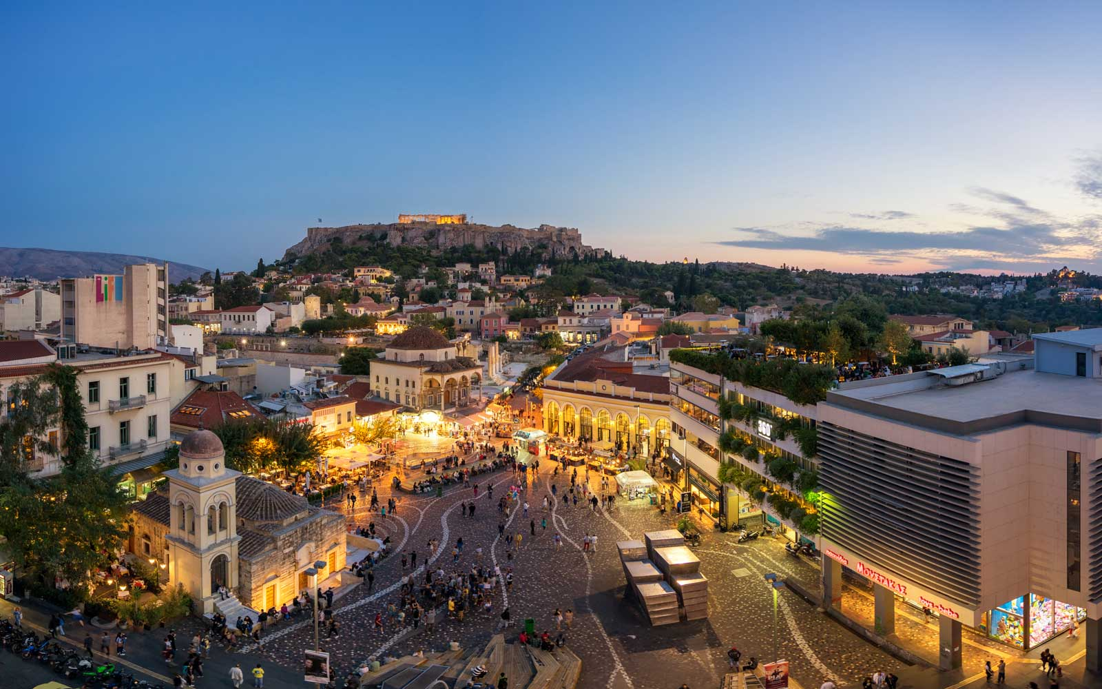 See locations like Monastiraki Square and the Acropolis of Athens.