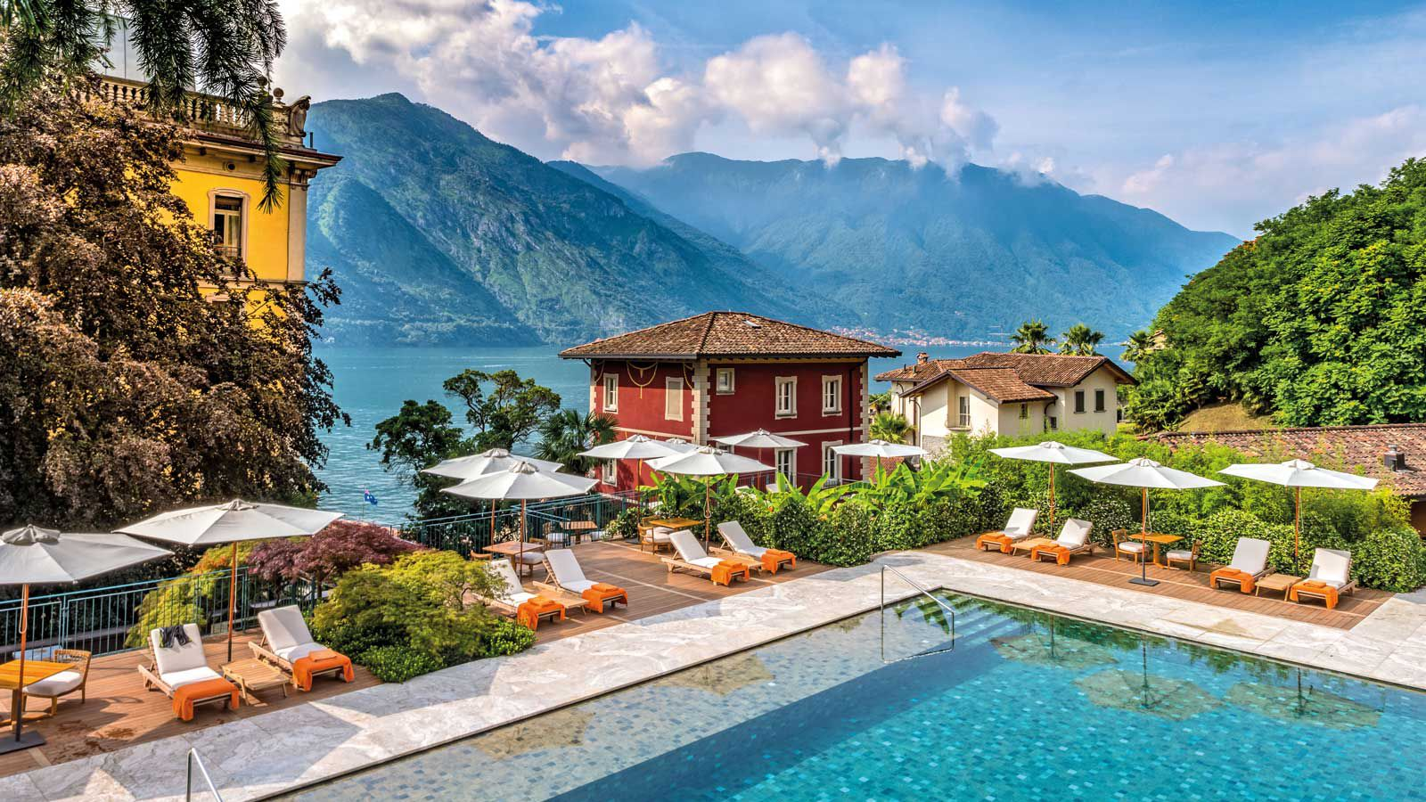 Pool at the Grand Hotel Tremezzo, in Italy