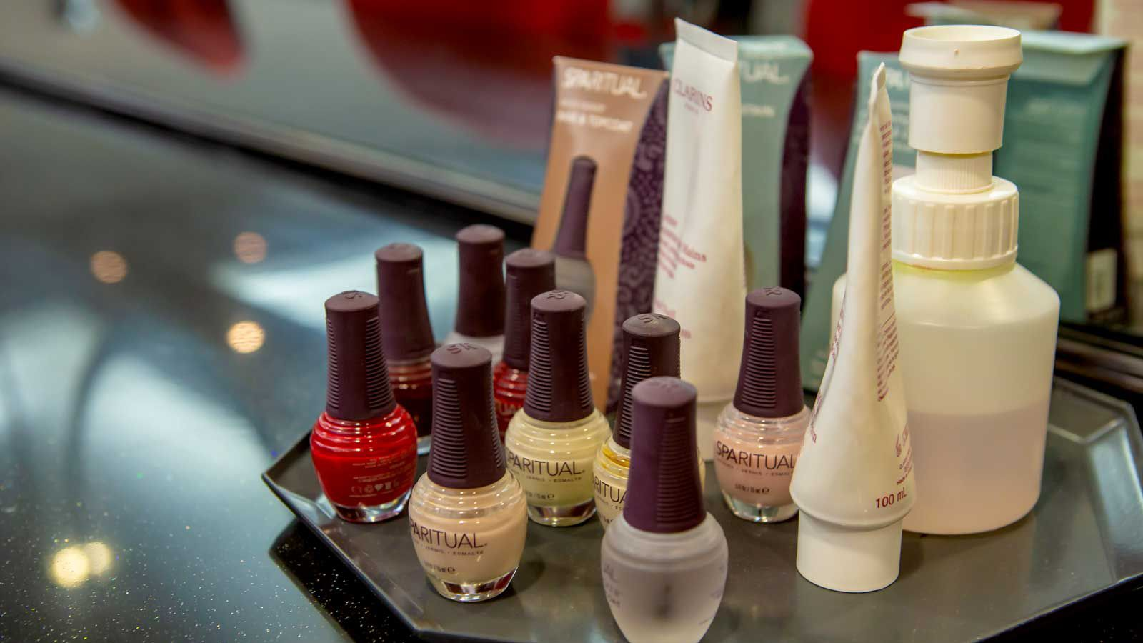 Crew will also find the airline's approved nail polish colors in the room.