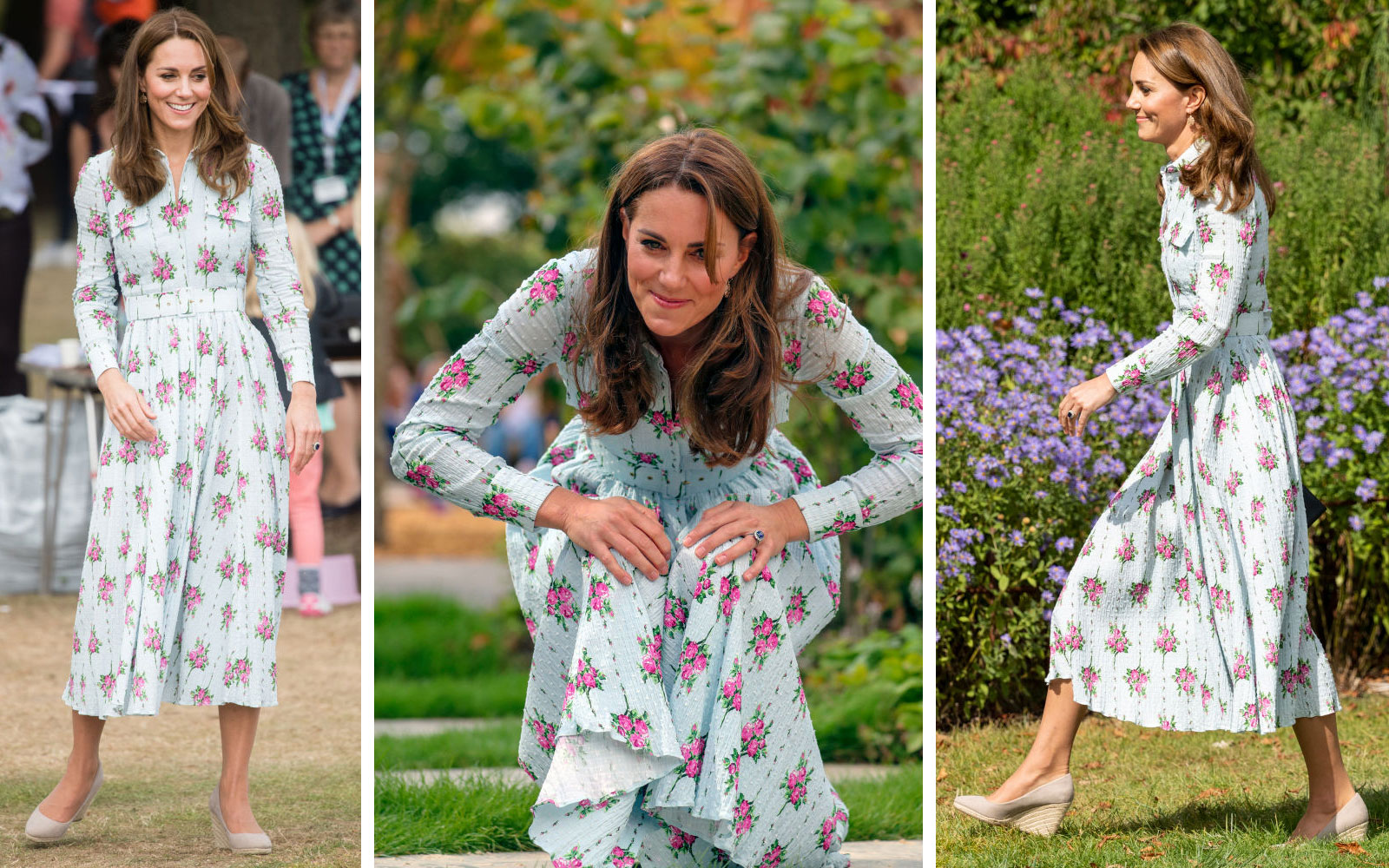 Kate Middleton Steps Out in the Perfect Floral Dress to Unveil Her Latest Garden Design