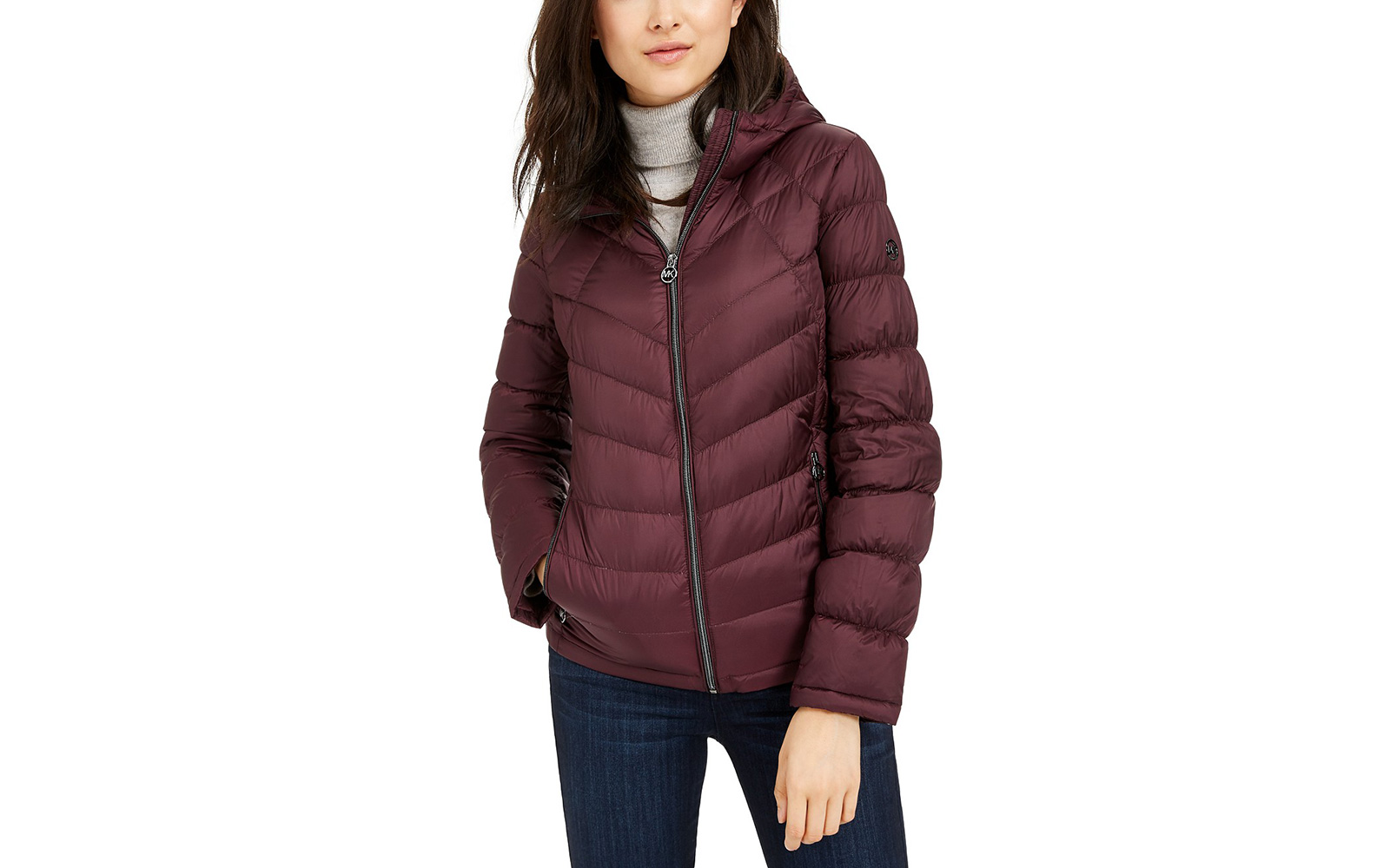 Michael Kors Packable Hooded Down Puffer Coat