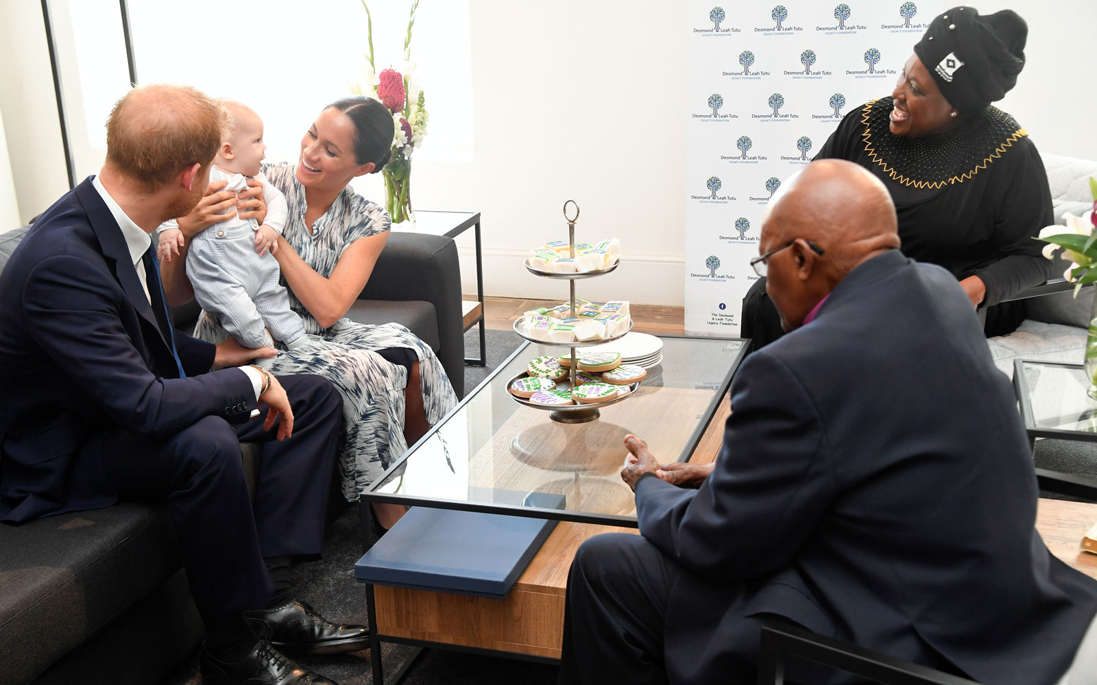 Meghan Markle, Prince Harry, and Archbishop Desmond Tutu