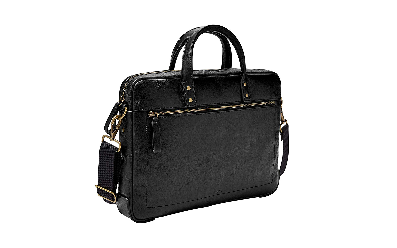 Fossil Men's Haskell Zip Leather Briefcase Bag