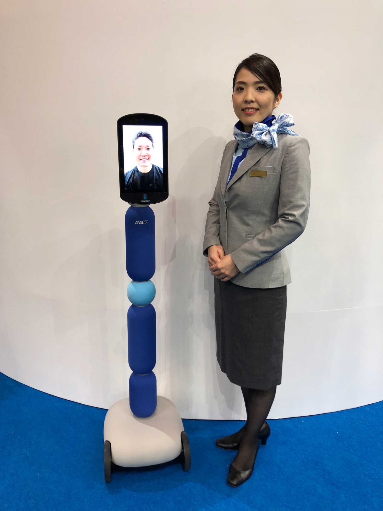 "ANA HOLDINGS INC. (hereinafter  ANA HD ) is unveiling its new ""avatar-in"" service platform at CEATEC 2019"