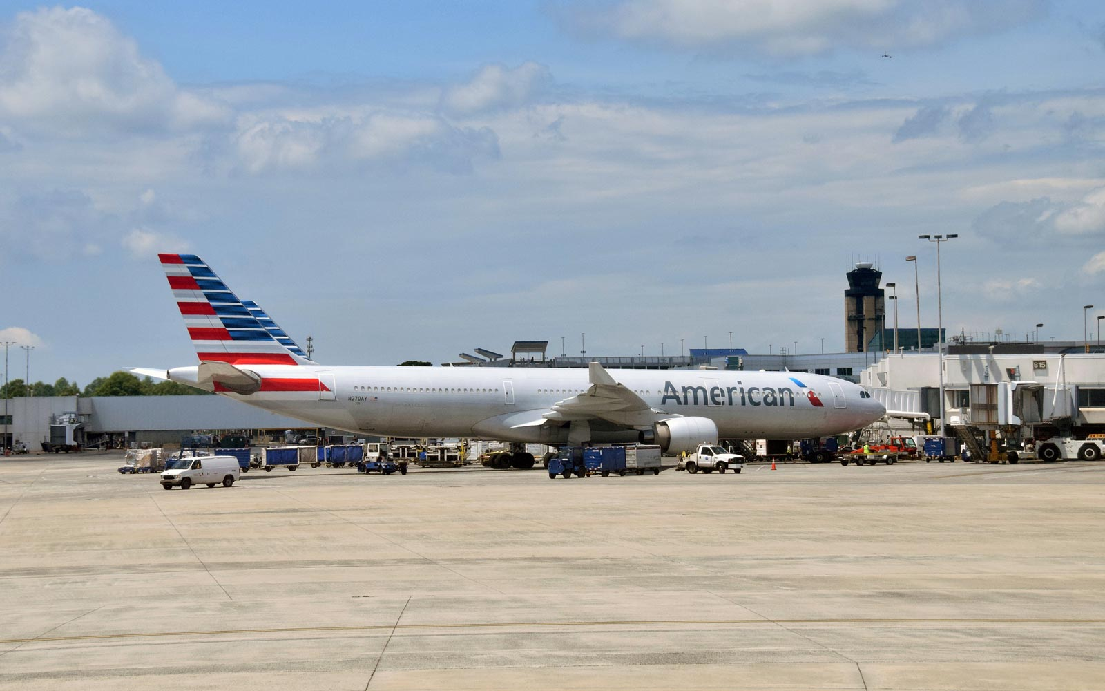American Airlines plant at Miami Airport