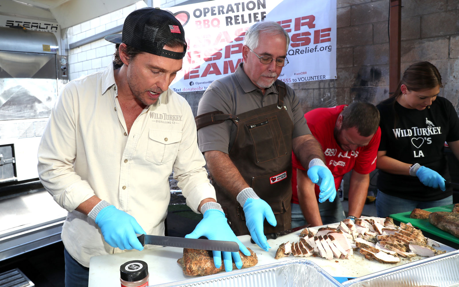 Matthew McConaughey cooks for first responders