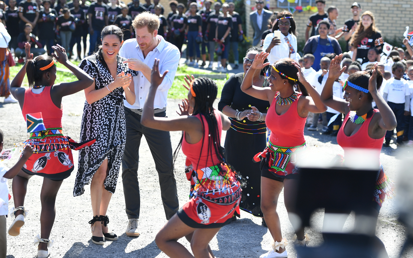 Meghan Markle and Prince Harry in the Nyanga Township in Cape Town, South Africa