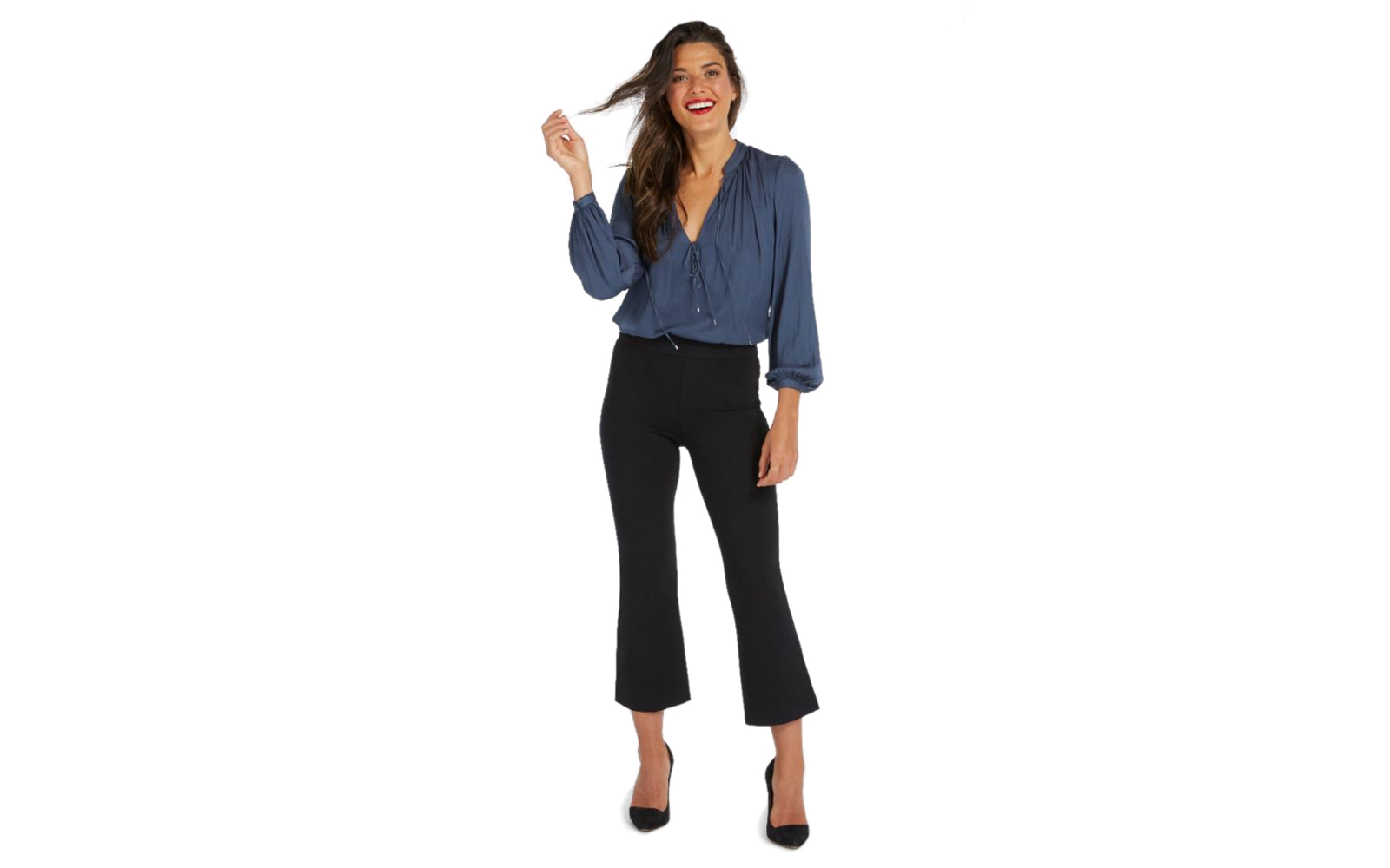 Spanx Perfect Black Pant in Cropped Flare