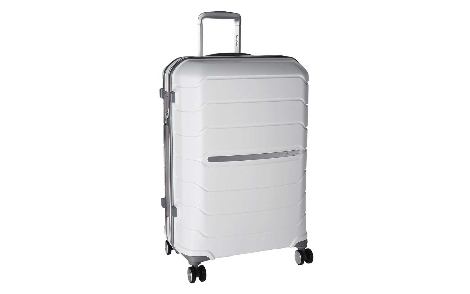 White Spinner Suitcase