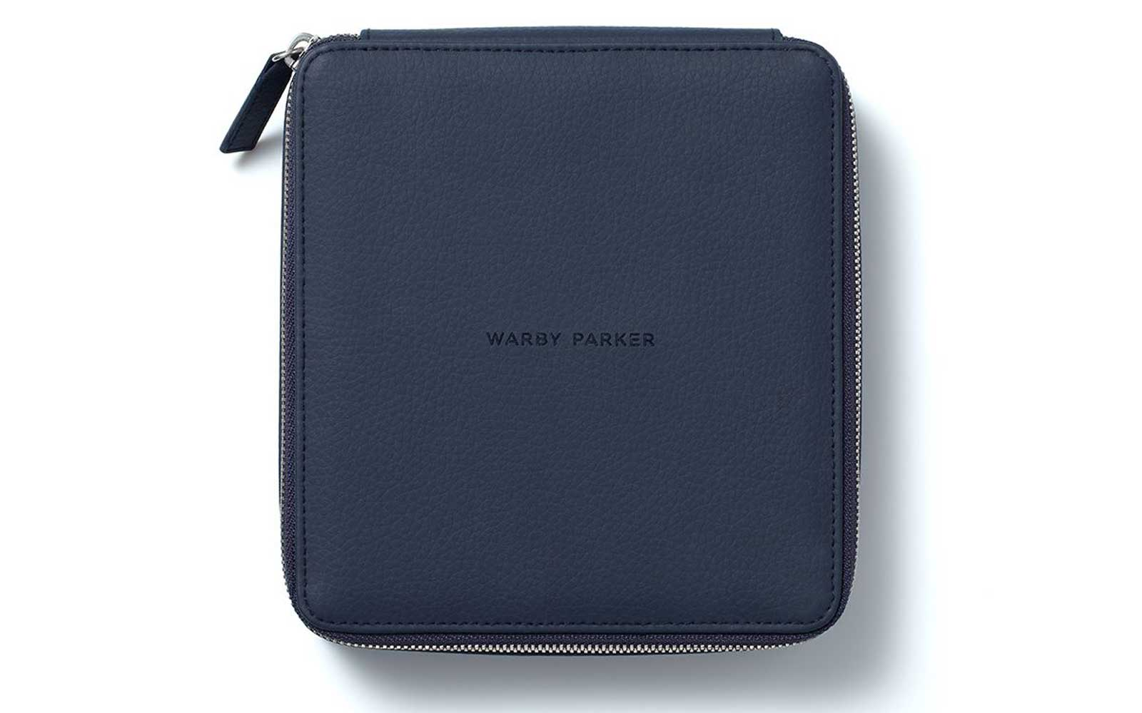 Navy Warby Parker Leather Case