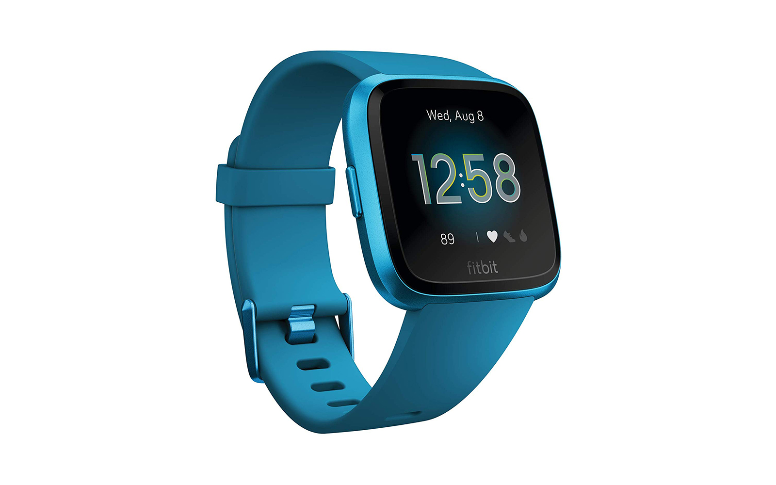 Fitbit Versa Lite Edition Smart Watch Marina Blue Aluminum