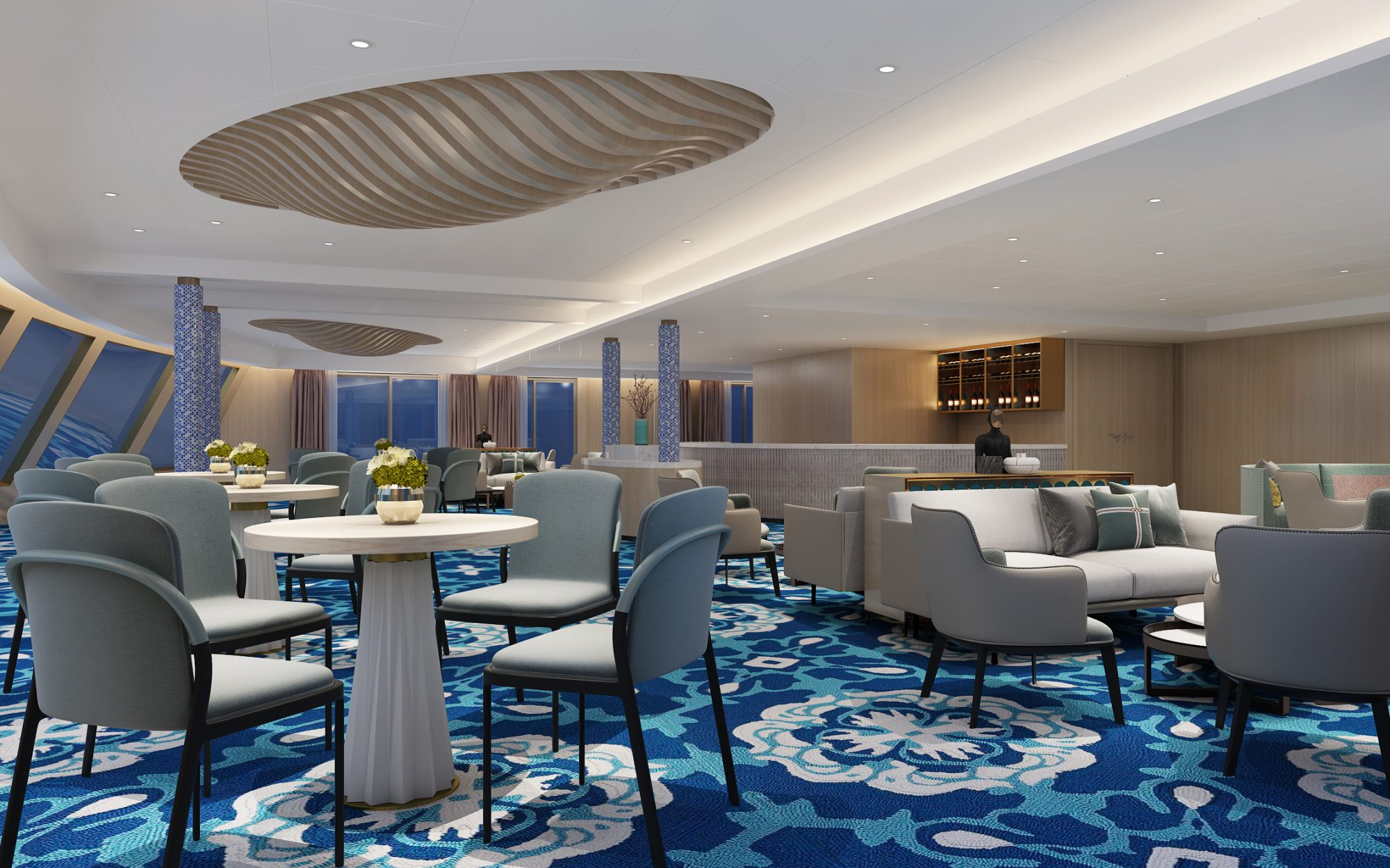 Rendering of the Victoria Sabrina lounge area