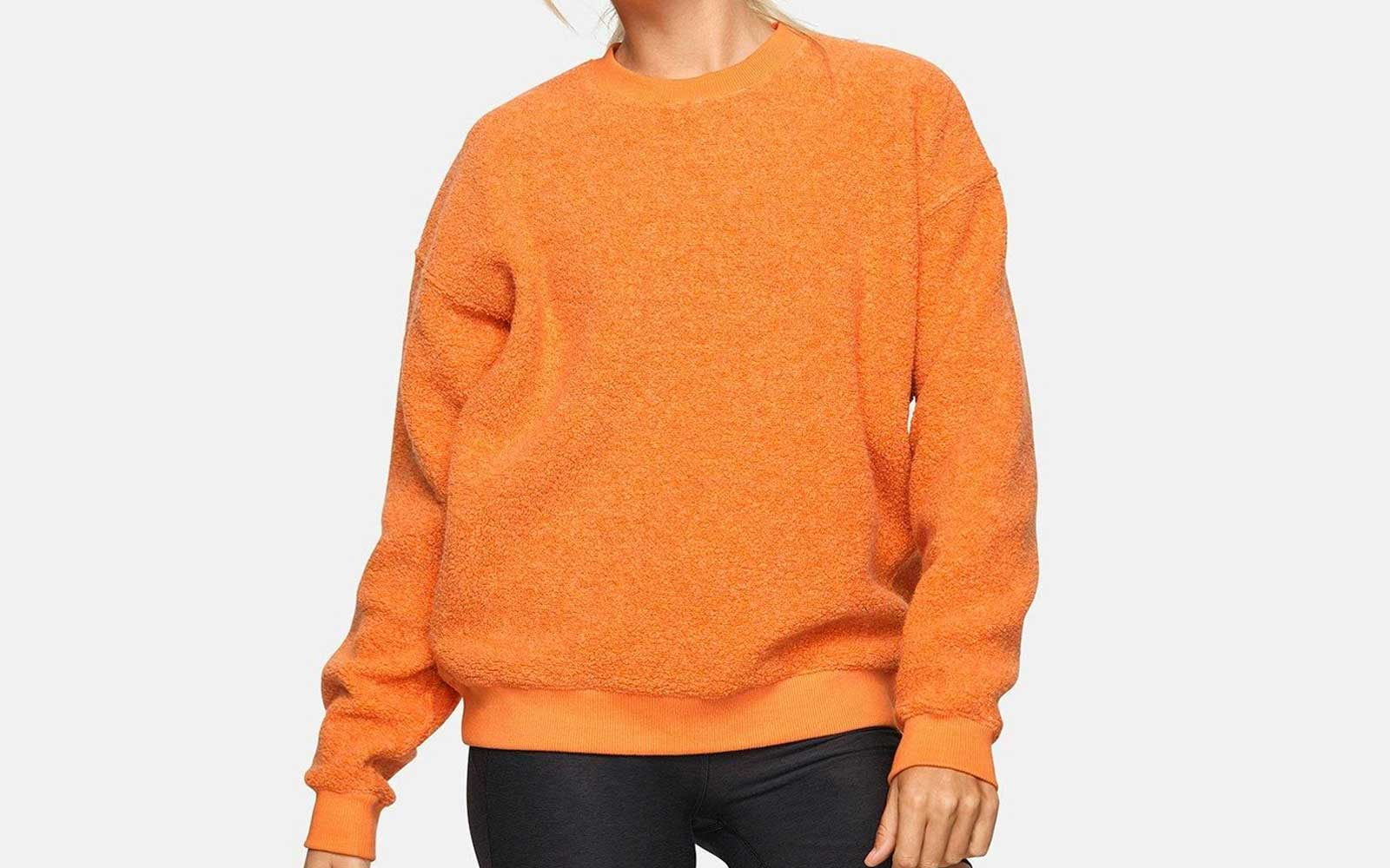 Orange Outdoor Voices Fleece Crewneck
